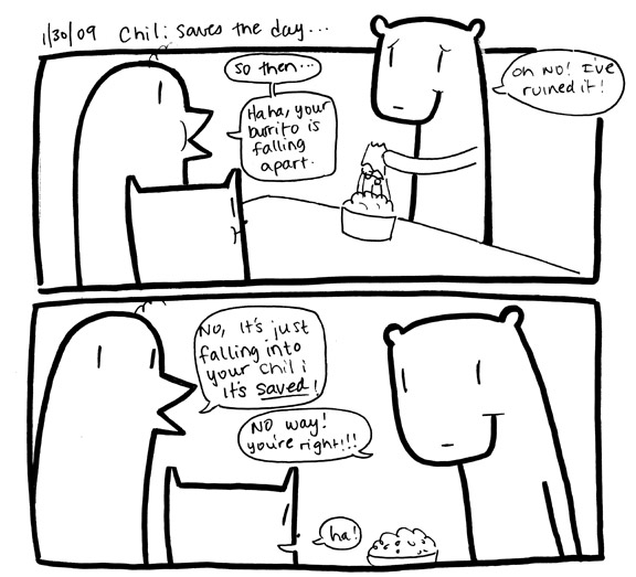 Chili saves the day!